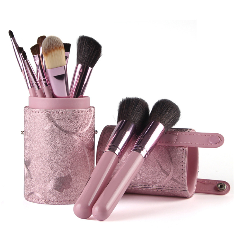 12pcs Pro Foundation Powder Blush Makeup Brushes Set Wool Hair Eyeliner Eyeshadow Eyebrow Lips Brush With Bag Case Holder 7pcs makeup brushes professional fashion mermaid makeup brush synthetic hair eyebrow eyeliner blush cosmetic