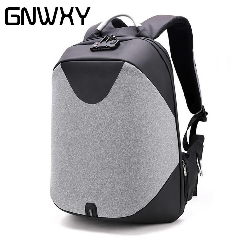 2018 New GNWXY Brand Anti-thief USB Charge Men Backpack TSA Lock Business Fashion Waterproof Travel Laptop Backpack For 15 Inch 2018 tigernu new arrival laptop backpack 15 6 inch usb charge for men