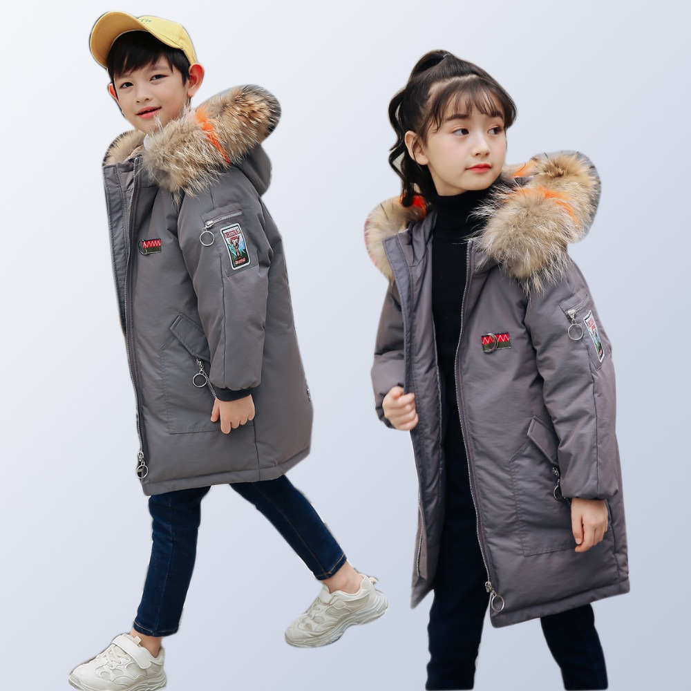 Boys Girl Clothes Winter Down Jacket Winter Coats for Kids Warm Down Long Teenage Girls Clothing Jackets Size 6 10 12 14 Years girls winter jackets long woolen coats for kids girls casual autumn children s clothes teenage clothing for girls 6 8 12 years