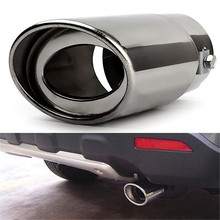 Universal Car Rear Round Exhaust Pipe High Quality Stainless Steel Tail Muffler Tip For Car styling Automobile Tip Pipes New