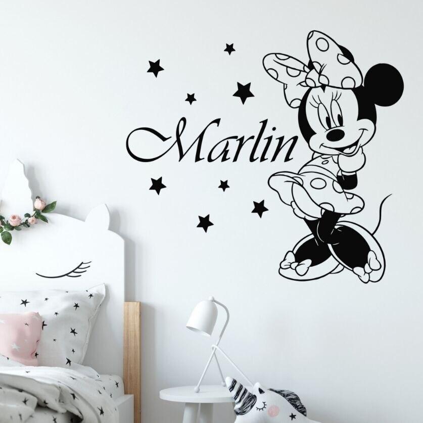 Home & Garden Minnie Mouse Wall Stickers Removable Vinyl Decal Girls Nursery Art Mural Decor