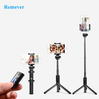 3 In 1 Mini Wireless Bluetooth Selfie Stick With Tripod Led Fill Light Extendable Monopod For