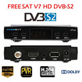 Freesat V7 DVB-S2 Satellite TV Receiver Support PowerVu Biss Key Cccamd Newcamd Youtube Youporn Set Top Box