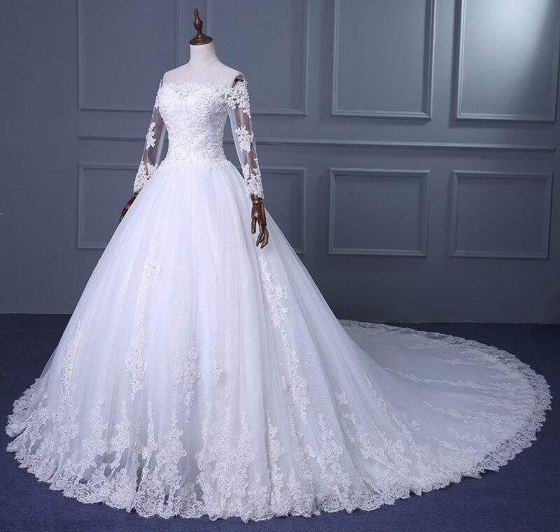 New Vintage Princess Ball Gown Wedding Dresses Beaded: 2016 Winter New Ball Gown Wedding Dresses Actual Image