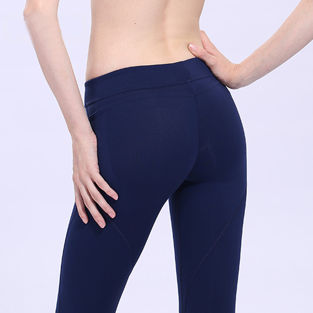 2017 Sportswear Women Fashion Black Leggings Compression Sexy Hips Push Up Leggings Candy Color Pants Quick Dry Trousers