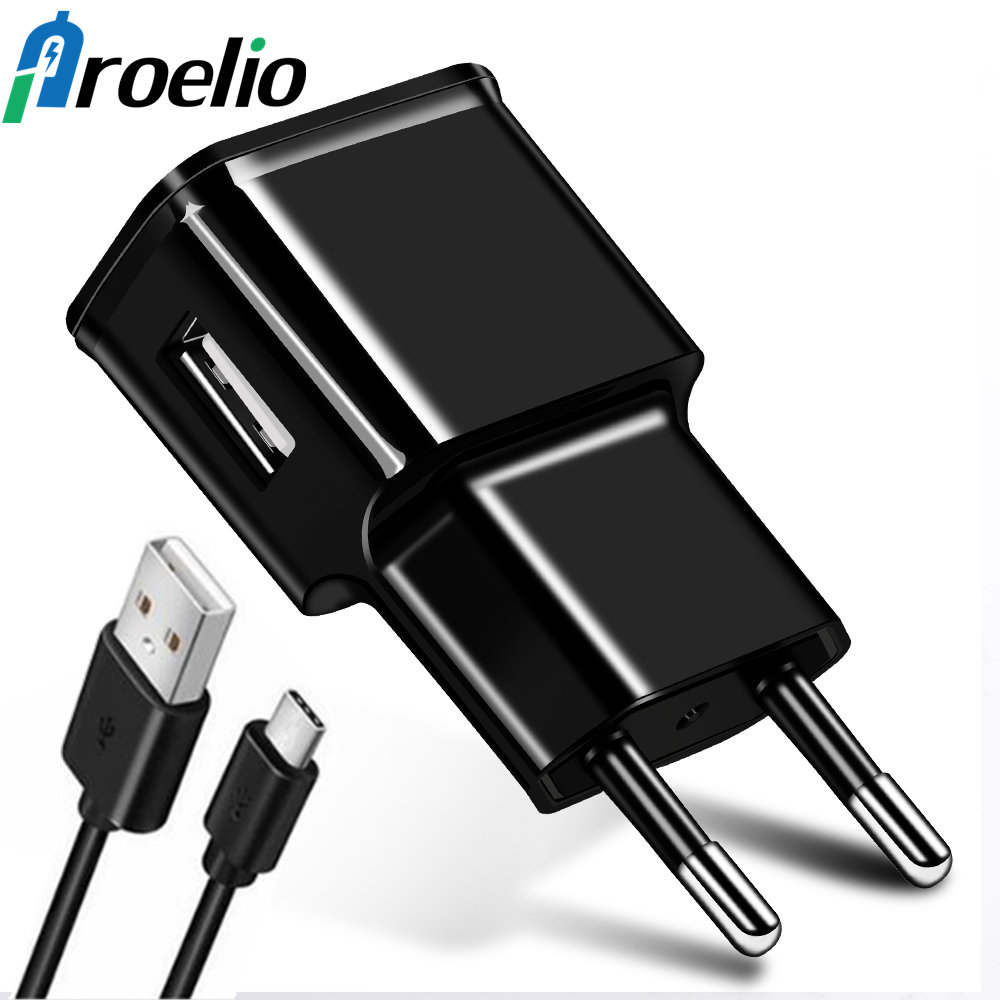 Mobile Phone Charger 5V 1A USB Travel Charger Portable Wall Adapter EU US Plug Micro Type C Type-C Cable For Samsung S8 A5 2017