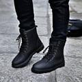 Nueva 2016 Otoño Invierno Zapatillas de Lona Para Los Hombres Fur Fashion High Top Sneakers Zapatos Hombre Sapatos masculinos Plana Tamaño 39-44