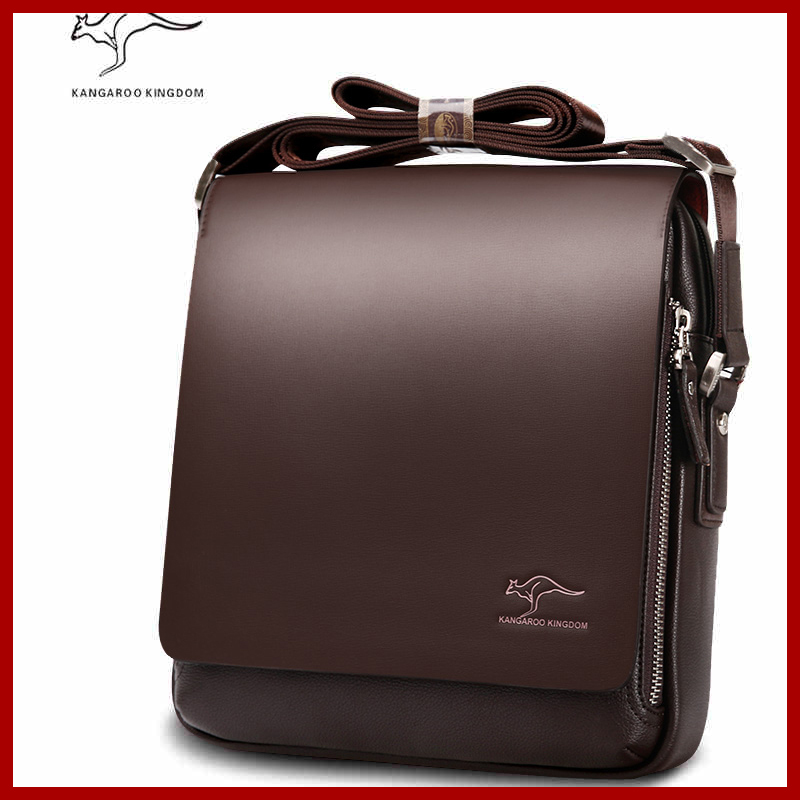 Briefcase Messenger-Bag Travel-Bags Composite Shoulder Brand Male Casual Men Kangaroo title=