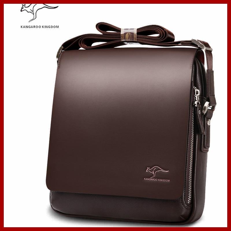 Free shipping Authentic brand composite leather bag casual male shoulder briefcase kangaroo messenger bag men s Innrech Market.com