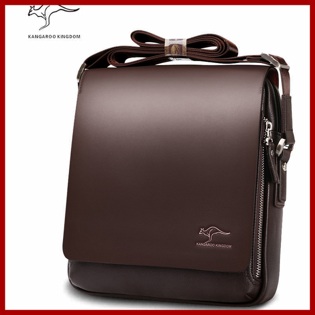 f08078b3836f Authentic brand composite leather bag casual male shoulder briefcase kangaroo  messenger bag men s travel bags
