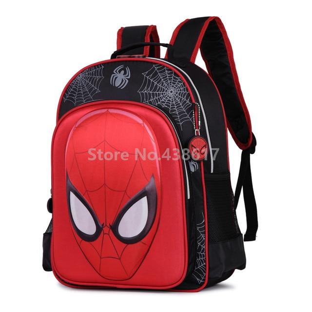 New Fashion 3D Spider Man Spiderman Backpack Children School Bags for Boys  Kids Elementary Primary School Book Bag Schoolbag 90e134ef7f7b3