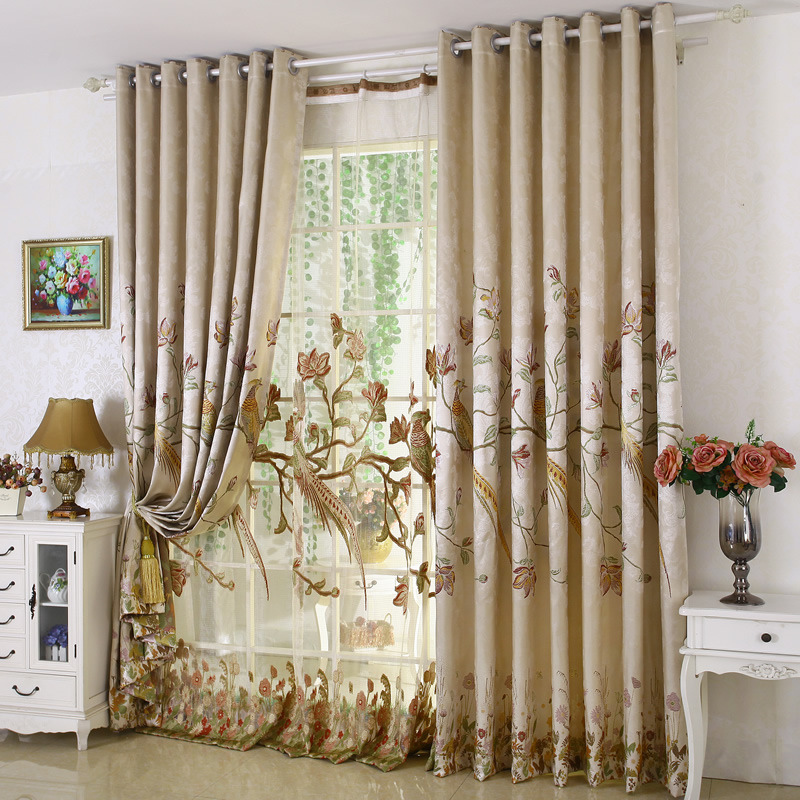 Buy High Grade Luxury Window Curtain Set For Living Room Emb