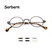 Metalowe małe okrągłe okulary ramka mężczyźni optyczne Retro owalne ramki okularów dla kobiet okulary dla osób z krótkowzrocznością Occhiali Da Vista Donna