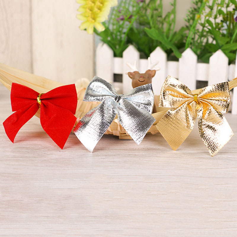 Image 3 - 12PCS DIY Christmas Pendant Bowknot Christmas Tree Ornaments XMAS Party Decor Kids Gift Toys 2020 Christmas Decorations For Home-in Pendant & Drop Ornaments from Home & Garden