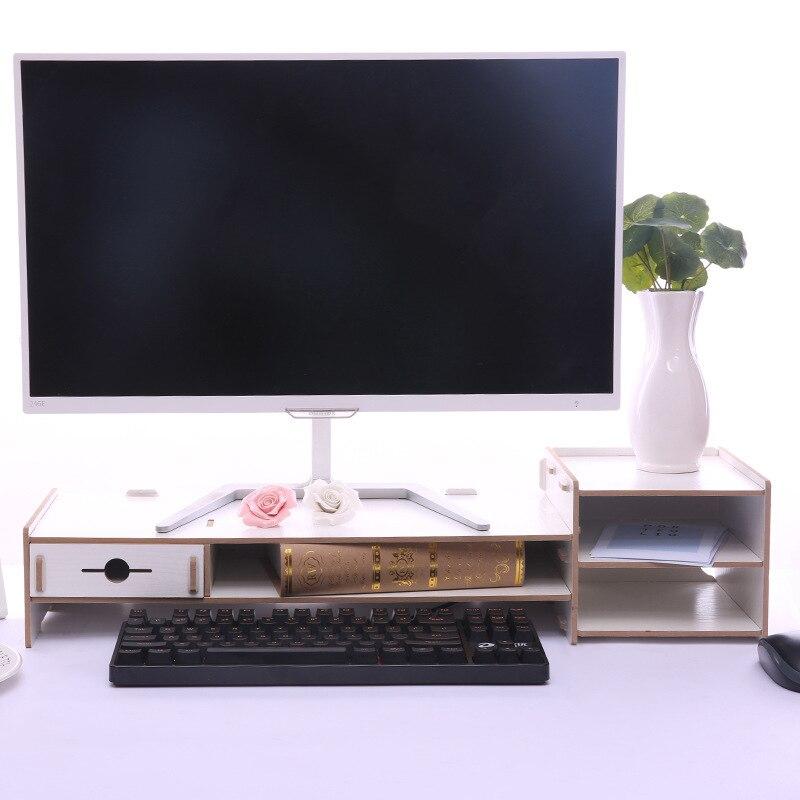 2019 bureau armoire ordinateur moniteur écran augmenté étagère assemblé bureau boîte de rangement rack étagère clavier étagère avec tiroir