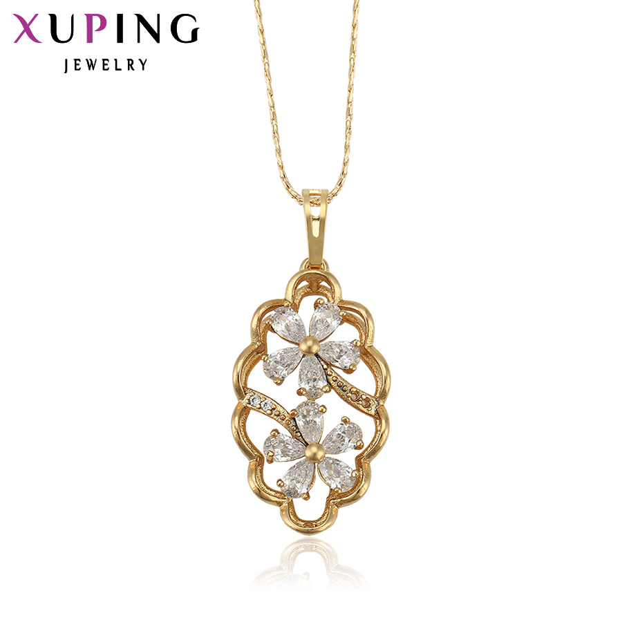 11.11 Deals Xuping Fashion Pendant 2017 New Gift Cheap Fashion Women Gold Pate Charm Pendants Christmas Jewelry For Women 32157