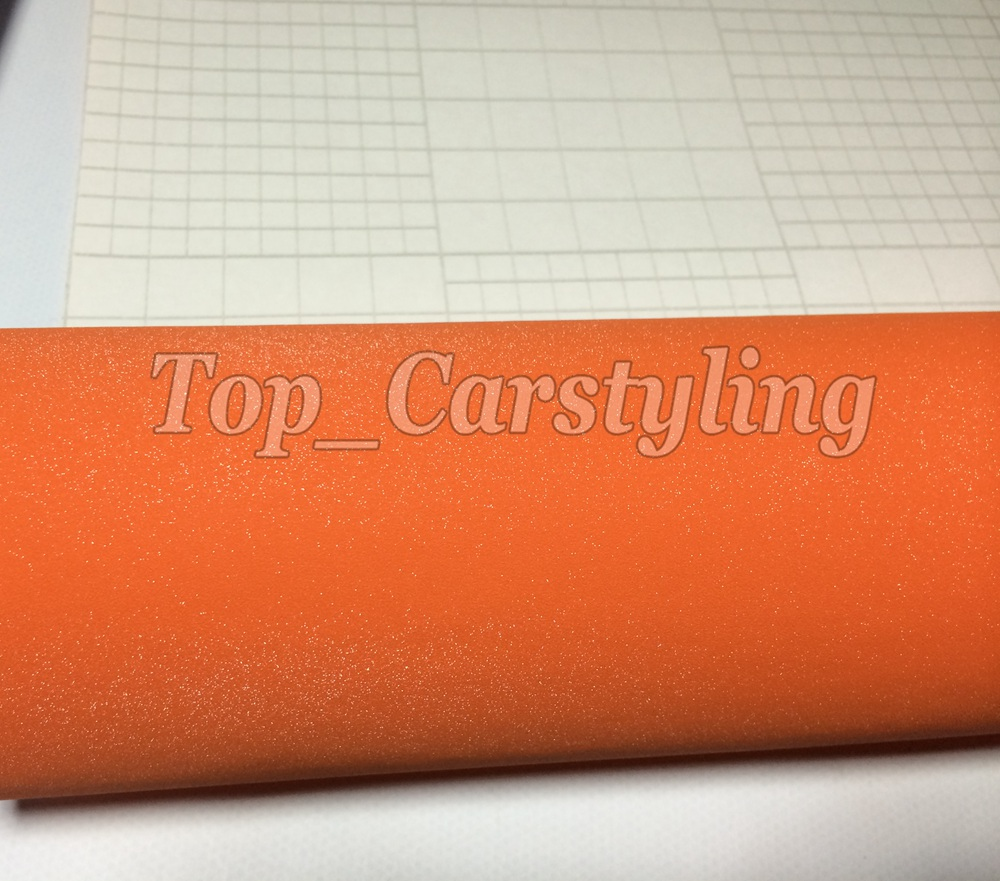 Orange glitter sparkle car wrap vinyl film (3)