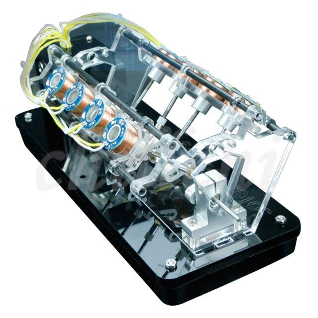 Un modelo de motor electroimán se puede usar para lanzar un motor de velocidad alta, un motor de automóvil, un motor Tipo V.