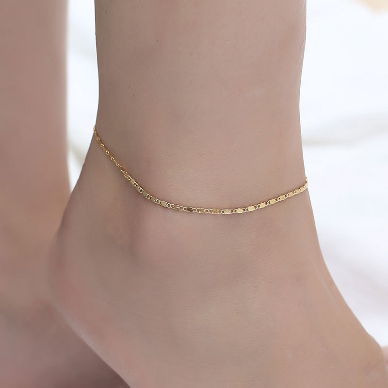 Fine Sexy Golden Anklet Ankle Bracelet Cheville Barefoot Sandals Foot Jewelry Leg Chain On Foot For Women Anklet