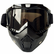 (1set) Hot Sales!! Brand CG-06 Motorcycle Mask Gafas Motocross Goggles Fitting Open Face Helmet Capacetes Cosco