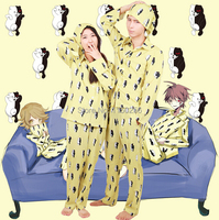 Anime Dangan Ronpa Danganronpa Monokuma Cosplay Costume Sleepwear Top+Pants+Hat Unisex New Free Shipping S XXL Size