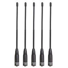 5 pièces Nagoya NA 701 sma femelle double bande 144/430MHz antenne souple pour Baofeng UV5R UV82 BF888S GT3 Plus talkie walkie portable