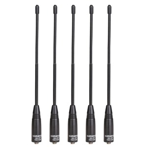 5pcs Nagoya NA-701 SMA-Female Dual Band 144/430MHz Soft Antenna for Baofeng UV5R UV82 BF888S GT3 Plus Handheld Walkie Talkie(China)