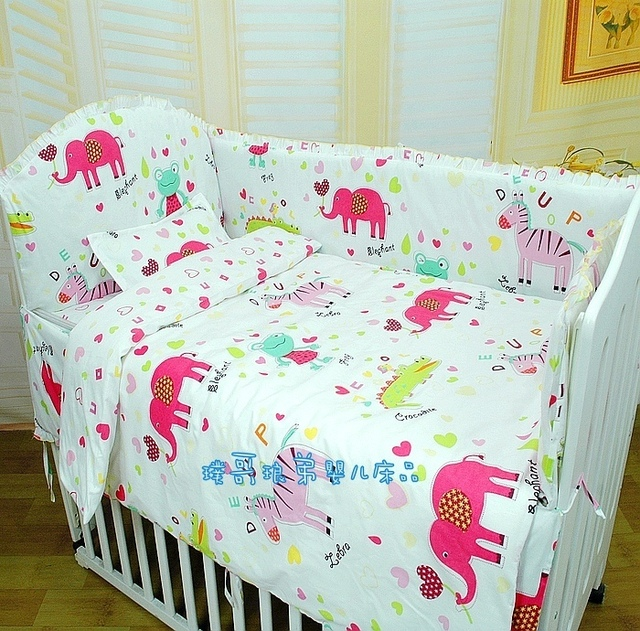 Sale Elephant comforter setVBaby bedding kit bed around bed sheets quilt baby bedding FREE SHIPPING