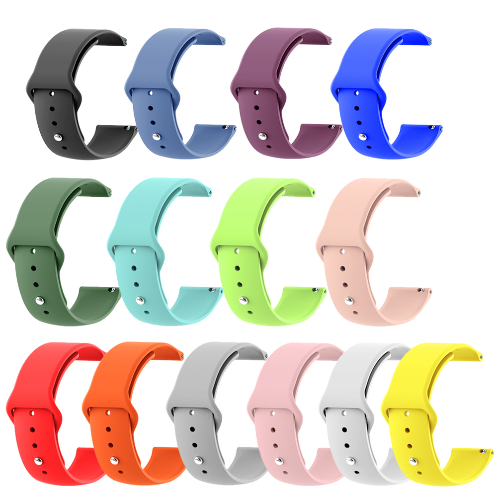 20mm 22mm Silicone Smart Watch Band Strap For Xiaomi Huami Amazfit Bip Youth / Stratos For Garmin Vivoactive3 For Samsung Galaxy