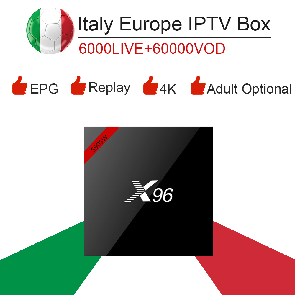 Android Tv Box X96 S905W 16GB Rom Europe Italy IPTV Dazn