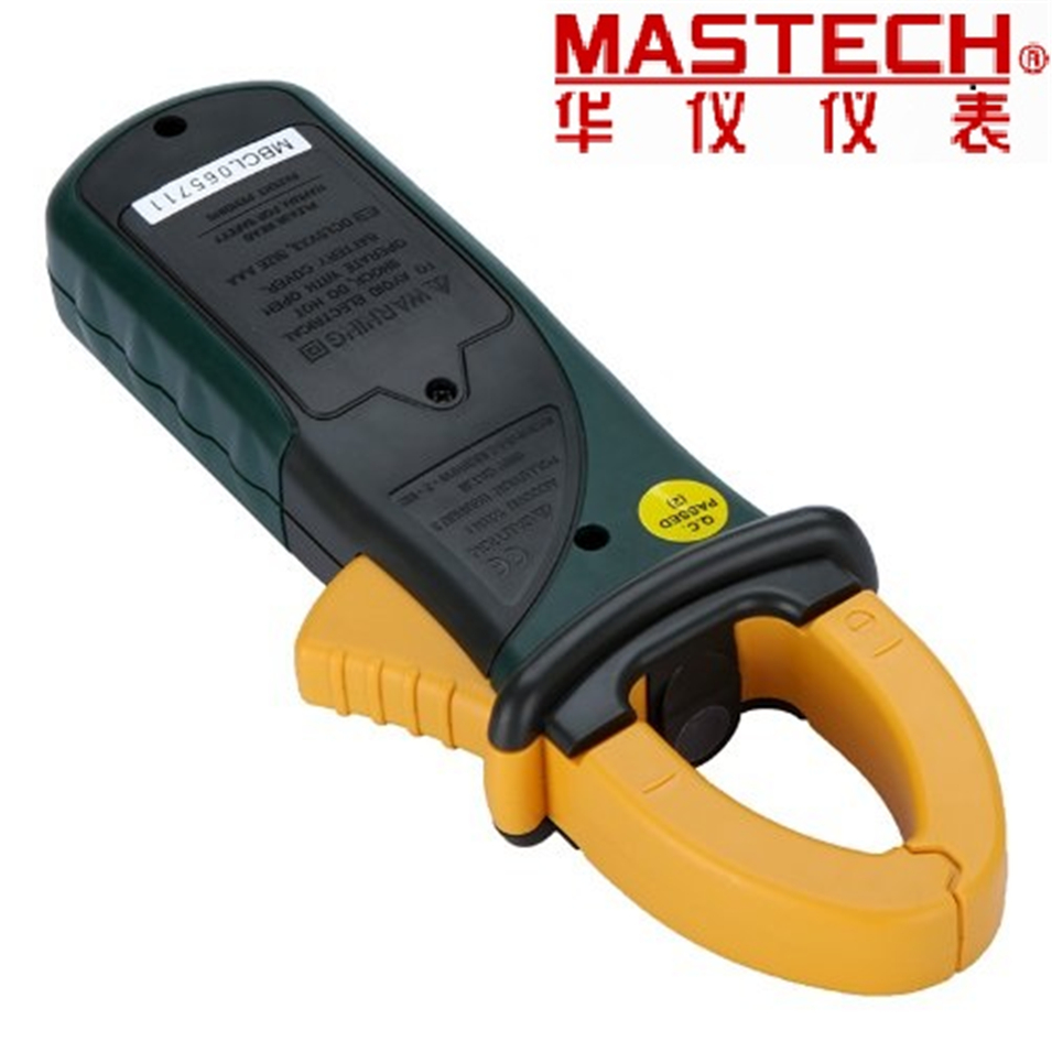 Mastech MS2108 Digital AC/DC Clamp Meter Multimeter LCD Display True RMS Auto/Manual Range Current Voltage Frequency Meter fluke f302 1 6 lcd ac clamp meter yellow red 3 x aaa