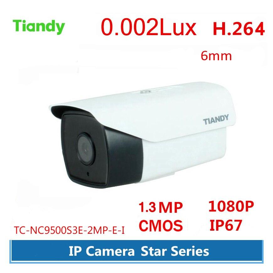 все цены на Original Tiandy 0.2Lu x 6mm Lens IP Camera English Version 1080P 1.3MP Waterproof IP67 Outdoor Star Serie Camera CMOS Support On онлайн
