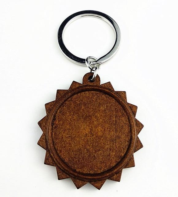 Купить 5 шт круглые деревянные подставки для ключей 30 мм