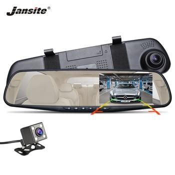 Jansite Car DVR Dual Lens HD 1080P display Car Camera Video Recorder Rearview Mirror With Rear view DVR Dashcam Auto Registrator automotive side-view mirror