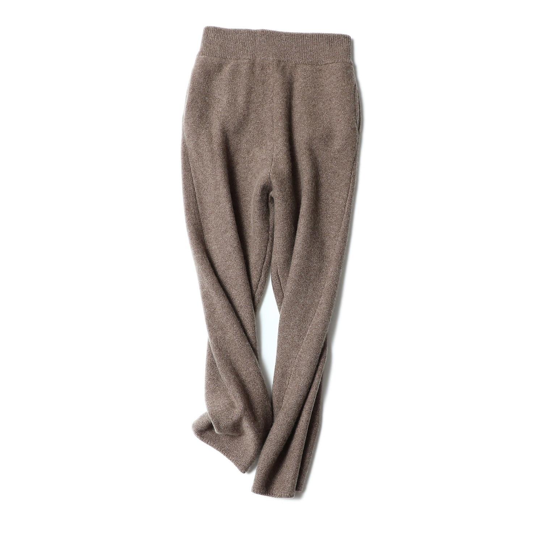 Shuchan 100% кашемир брюки Для женщин 2018 г. зимние плотные теплые штаны Для женщин эластичный пояс высокие узкие высокое качество Womrn Костюмы