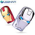 LEIZHAN Iron Man USB Flash Drive Pendrive Pen Drive 2.0 USB 32GB 16GB 8GB 4GB Computer Memory Cards Good Quality USB Stick Card