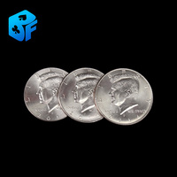 Free shipping New arrival coin shell original coin shell magic tricks magic props one to three