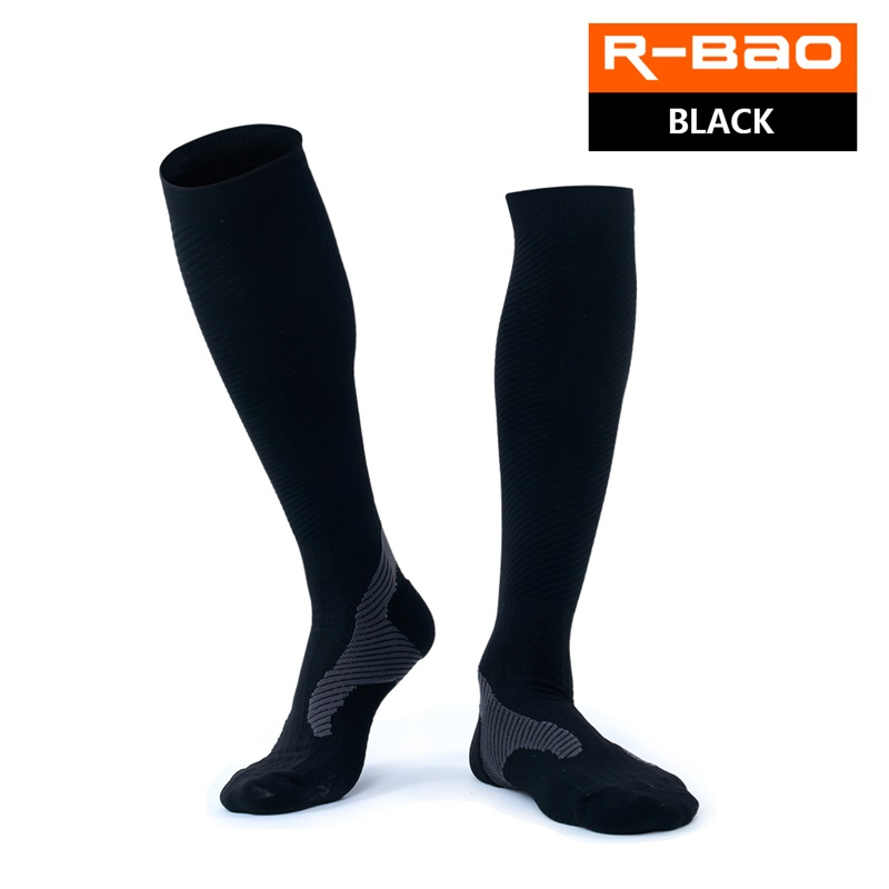 RB7711 R-Bao High-quality Marathon Compression Running Socks Outdoor Sports Long Socks Knee High Cycling Bicycle Socks
