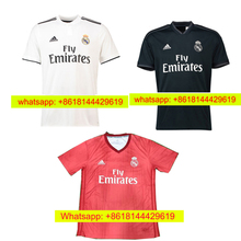 2018 Reals Madrides Adult Sleeve Top quality jersey 18 19 Home white Away  purple 3RD black 3f0ce0748
