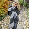 3 Colores de La Venta Caliente 2017 La Moda de Invierno Manta Bufanda Femenina Lana de cachemira Pashmina Mantón de La Bufanda Caliente Bufandas Gruesas Cabo Wraps l136