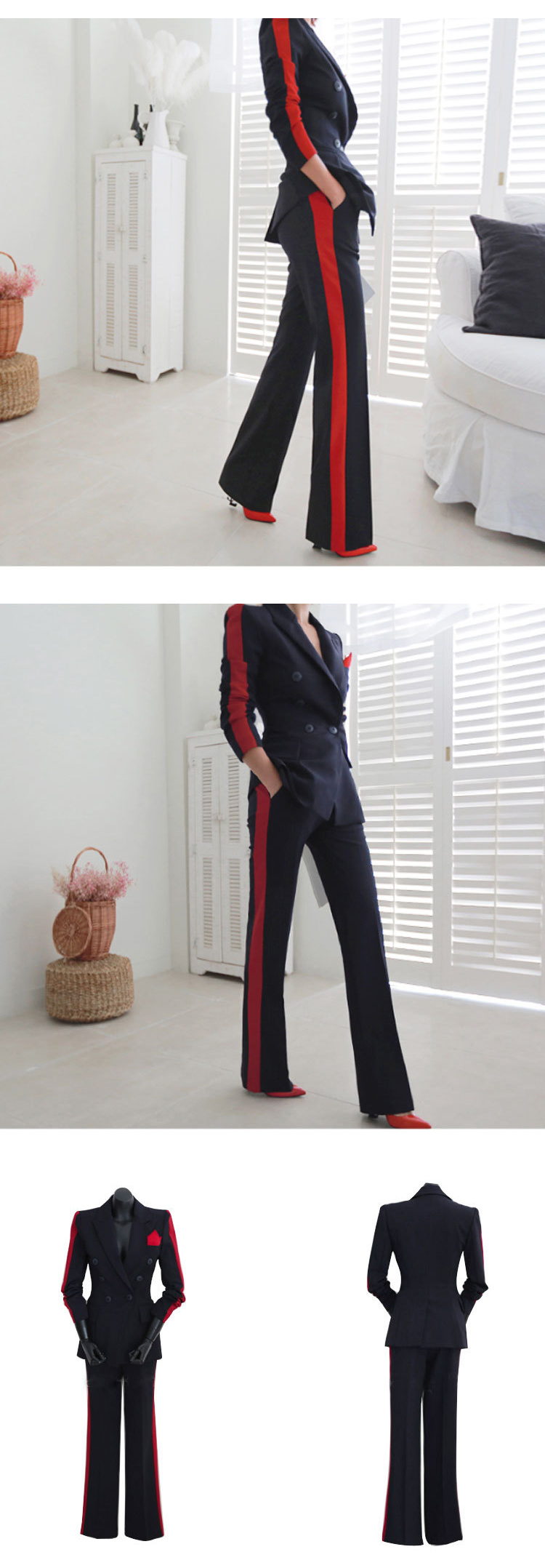 New arrival women high quality temperament fashion wild suit slim pant comfortable thick warm trend outdoor office pant suits 8