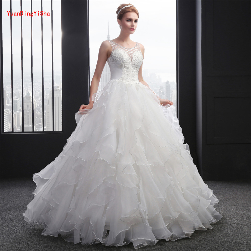 Dw2815 Princess Ball Gown Wedding Dresses 2017 Lace With: New Elegant Princess Wedding Dresses 2017 V Neck Ball Gown