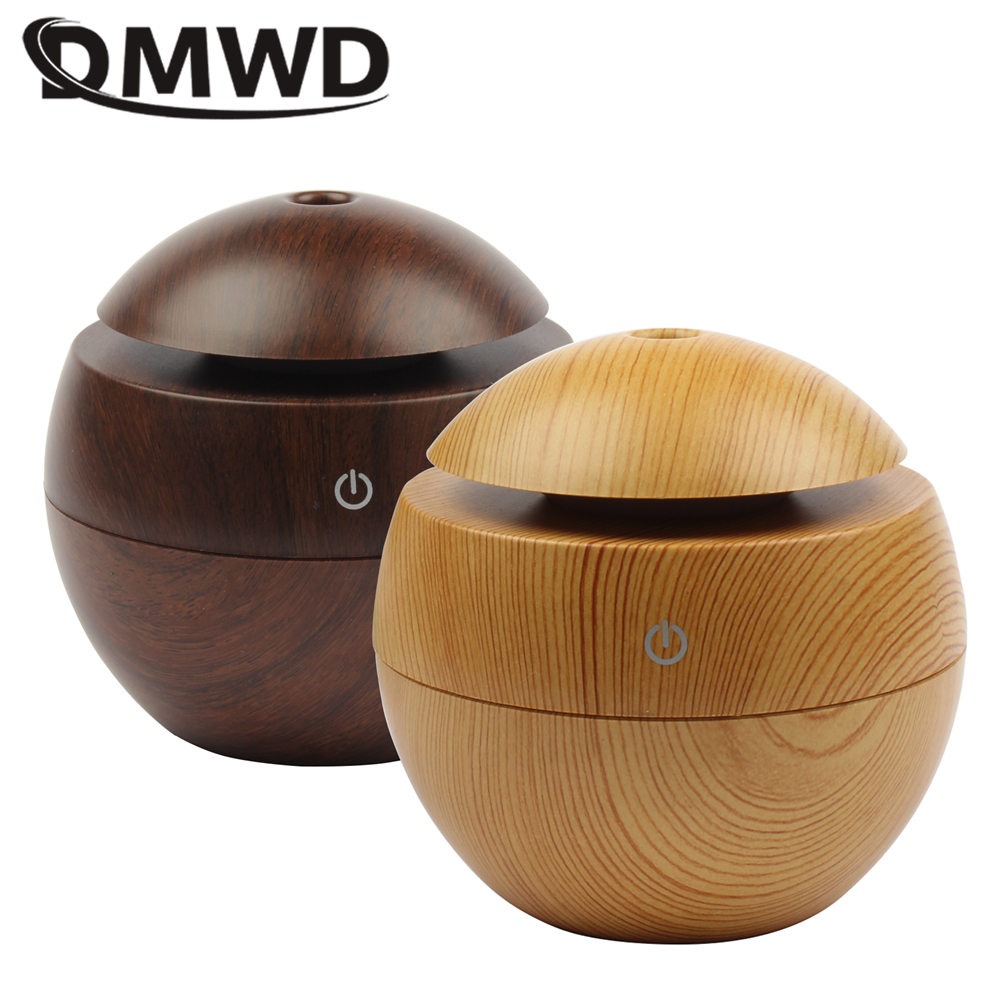 DMWD Mini Air Humidifier With LED USB Charging Aromatherapy Essential Oil Aroma Diffuser Mist Maker For Home Bedroom Living