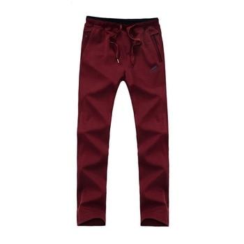 New Arrival Loose Men's Black Pants Casual Fashion100% Cotton Breathable Style Trousers Male Sweatpants Big Size 5XL 6