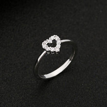 Wedding Bride Rings Fine Engagement Rings Jewelry Accessories Women Fashion Love Heart Ring Funny Metal Ring Body Jewellery(China)