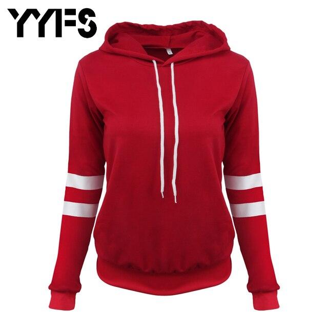 2017 Plus Size Women S Clothing Hoodies Sweatshirts Hoodie Cotton Black Red  Grey Hoody Women Pullover Striped Korean Casual 5371 dfc28dc5c8