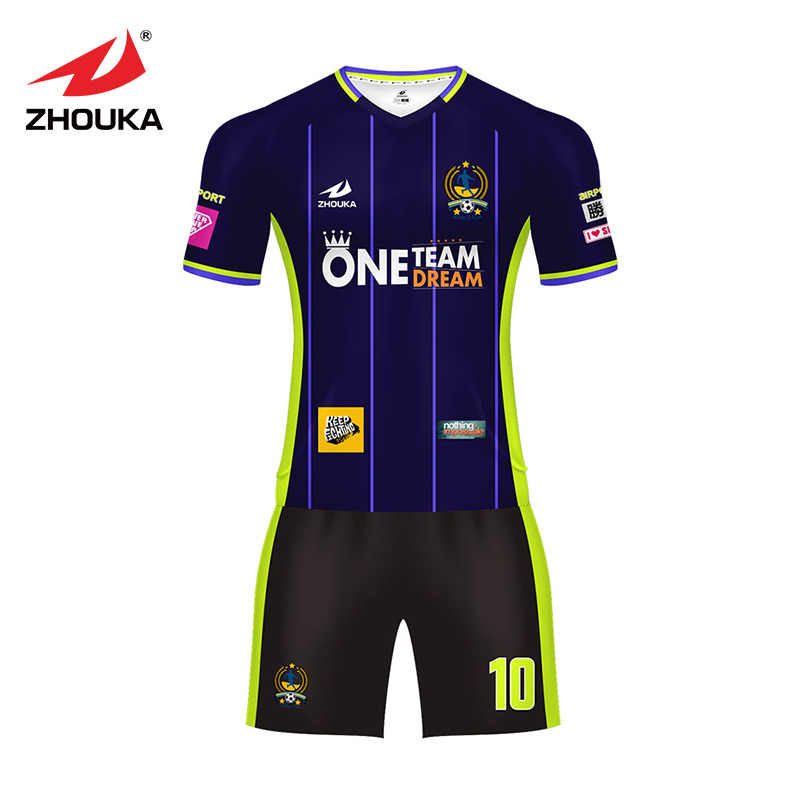 771cb887b40 Zhouka camiseta de fútbol Uniforme de futebol personalizar uniformes de  fútbol personalizar camisetas de fútbol equipo
