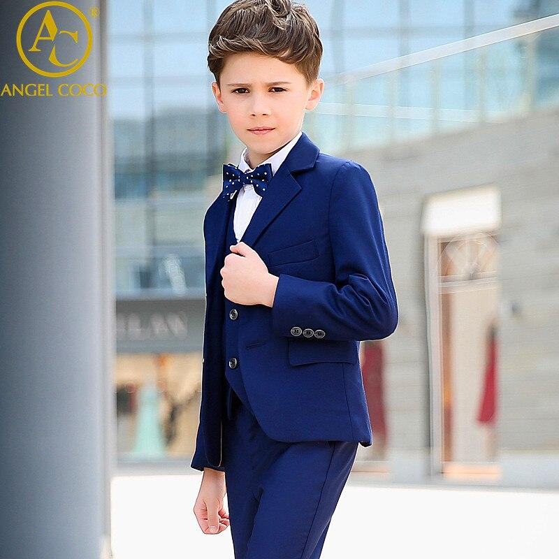 Online Shop Boys suits for weddings Kids Prom Suits Blue Wedding ...