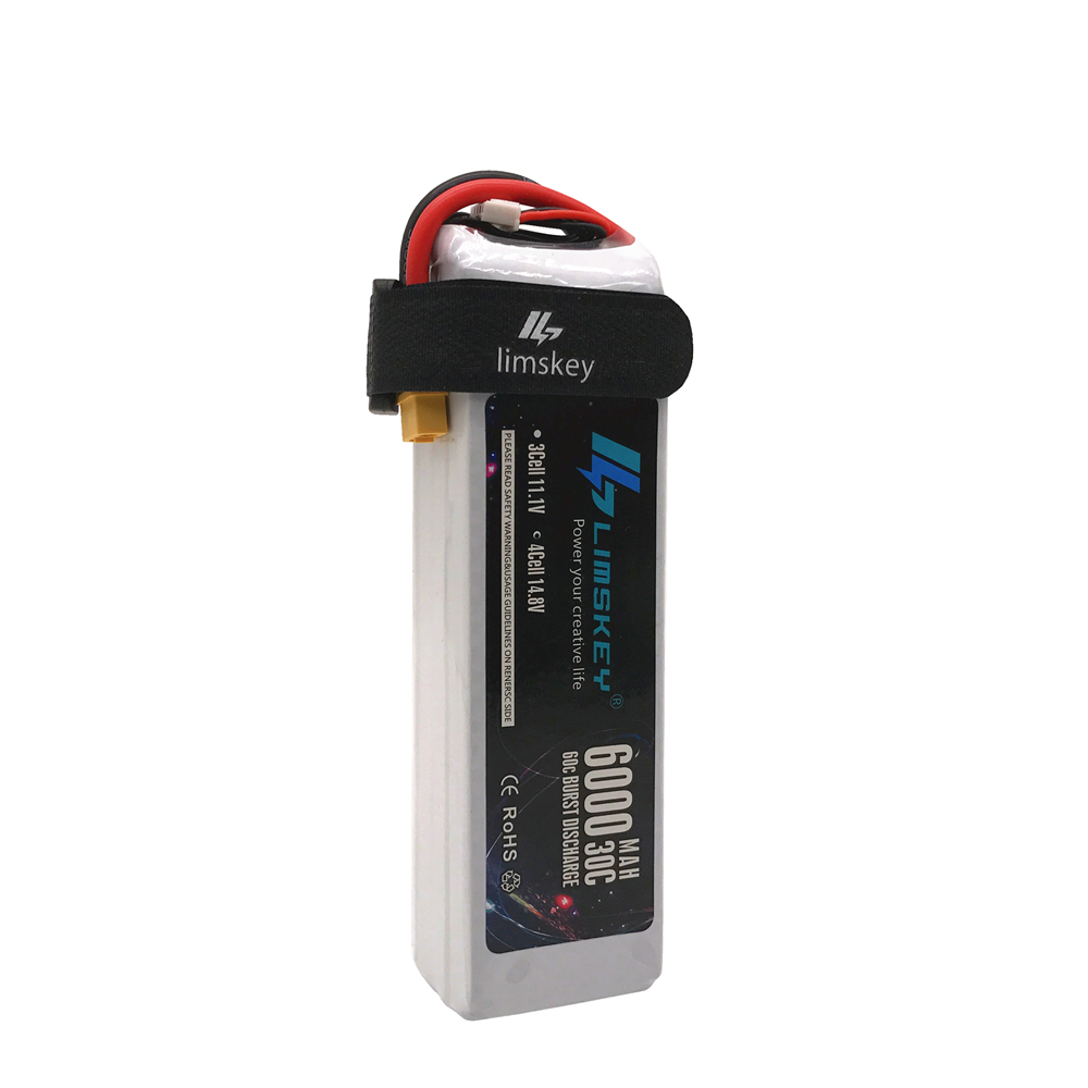 Lismkey 14.8V <font><b>6000mAh</b></font> 30C Burst 60C <font><b>4S</b></font> <font><b>Lipo</b></font> Li-Polymer Battery Bateria AKKU for RC Car Quadcopter Helicopter Airplane image