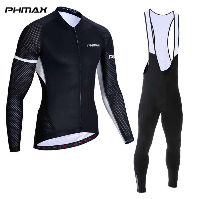 PHMAX 5 Colors Cycling Set Long Sleeve Spring MTB Bike Clothes Racing Bicycle Clothing Ropa Maillot Ciclismo Cycling Jersey Set